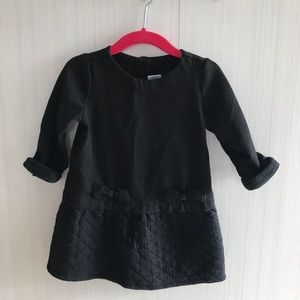 Black dress with bow detail